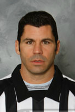 Referee Justin St. Pierre (#12) (Courtesy NHLOA)