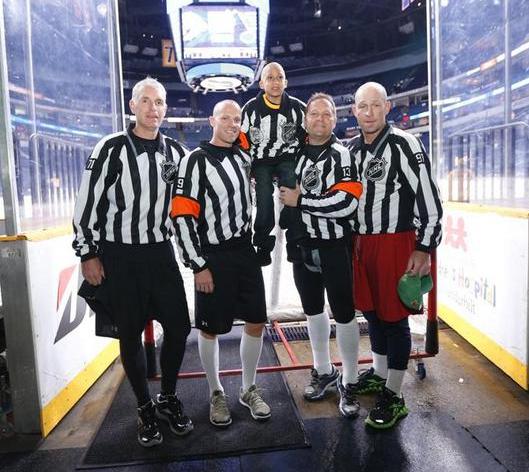 Gord Dwyer, Dan O'Halloran, Brad Korachik and Don Henderson with Tristan Soto