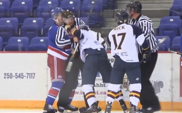 BCHL Linesman KO'd in Fight