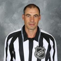 NHL Linesman Derek Amell #75