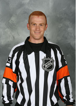 NHL Referee Tom Chmielewski (#43) (Courtesy NHLOA)