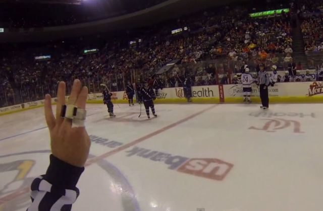 ECHL Ref Dons Helmet Cam for Two Games
