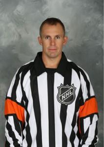 NHL Referee Brian Pochmara (#16)