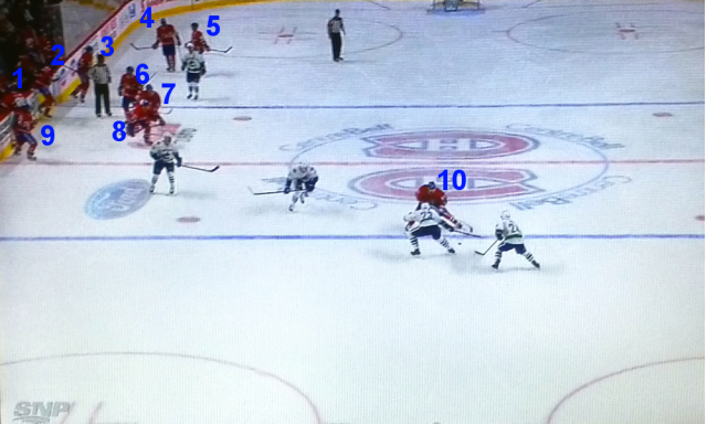 Montreal Canadiens have WAY too many men on the ice