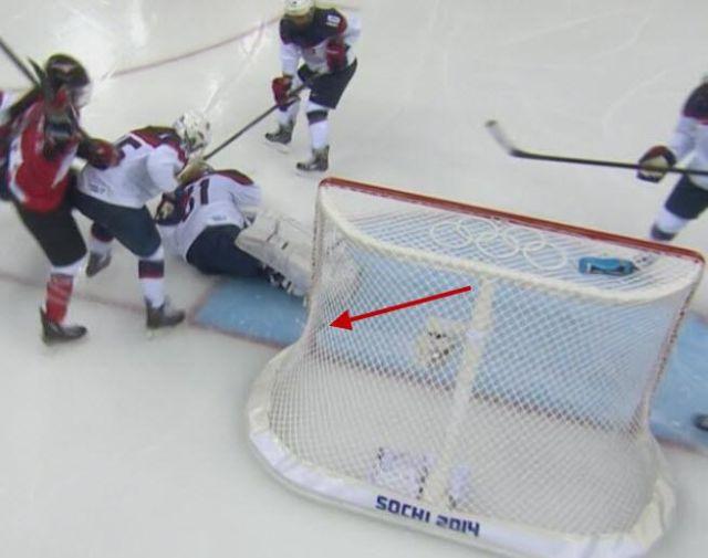 Goal? - Women's Olympic Hockey USA vs Canada