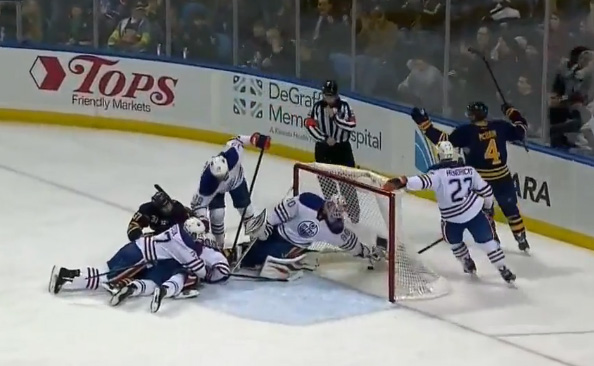 Edmonton Oilers vs. Buffalo Sabres - Goal Disallowed 2/3/14