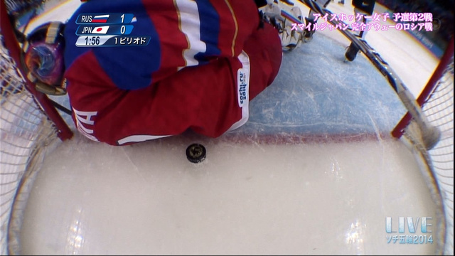 Sochi 2014 Women's Hockey - No Goal Japan vs Russia