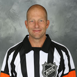 NHL Referee Brad Meier