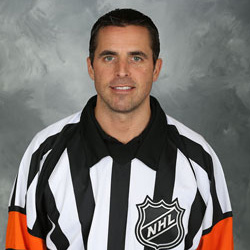NHL Referee Chris Rooney (#5)