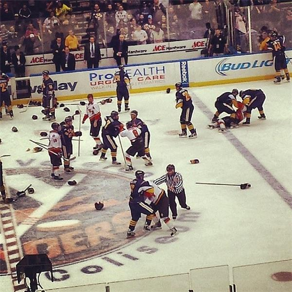 NYPD/FDNY Hockey Brawl