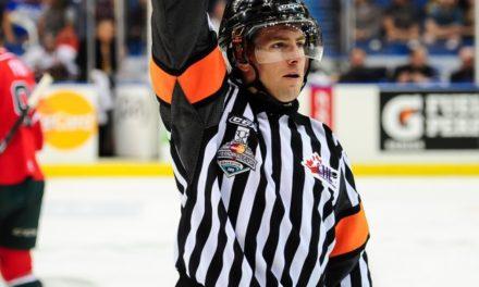Ref Kendrick Nicholson Makes NHL Debut