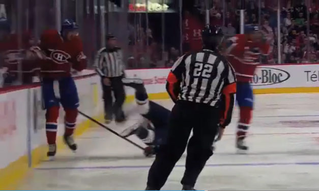 Habs' Tinordi Ejected for Elbow, Avoids Suspension