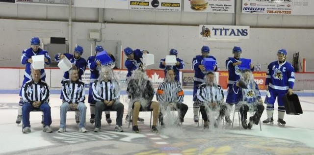 GMHL Ice Bucket Challenge held September 5 in Temiscaming, PQ