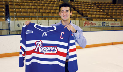 Ben Fanelli of the Kitchener Rangers