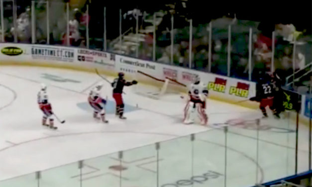 AHL Goalie Dislodges Net to Stop Two-Man Breakway