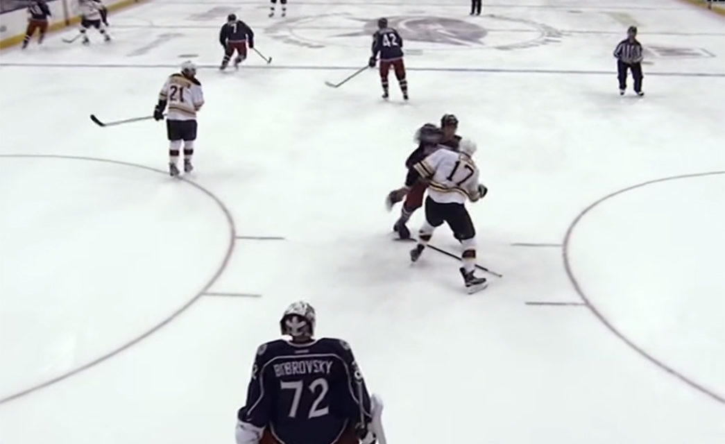 Refs Praise Jackets' Prout for Lucic Punch