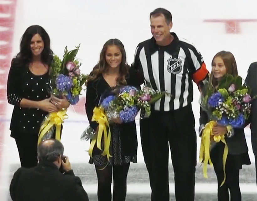NHL Referee Mike Leggo's 1,000th Game