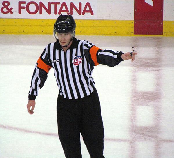 ECHL Referee Andrew Wilk