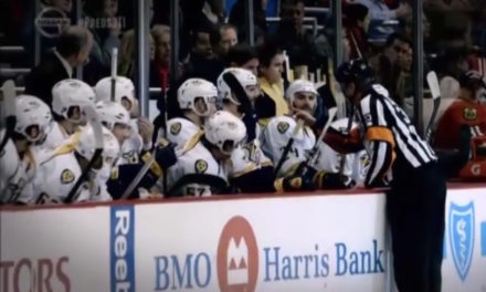 Laviolette Yells at Referee Kevin Pollock for Winking at Hawks Bench