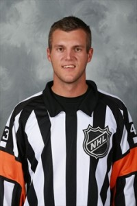 NHL Referee Garrett Rank