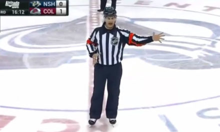 Referee Wes McCauley's Exuberant Hooking Call