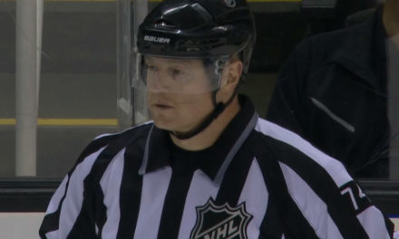Linesman Lonnie Cameron Makes Pick, Caps Score