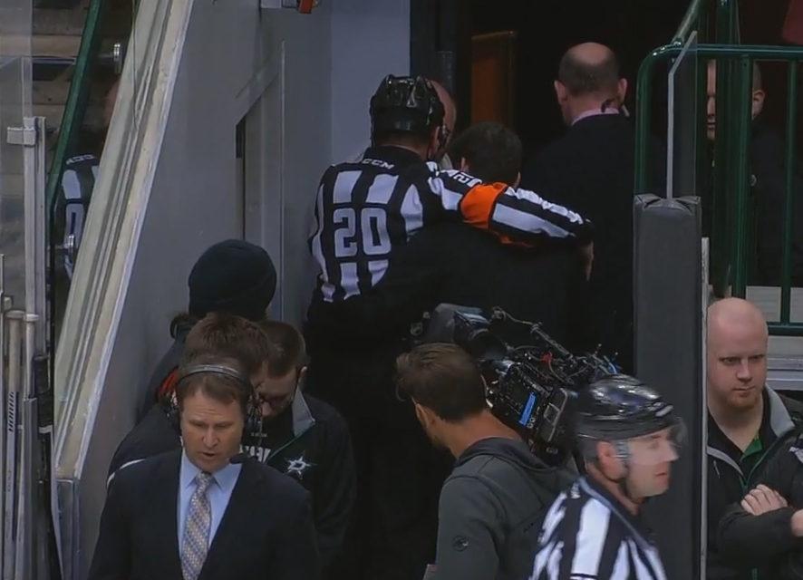 Referee Tim Peel Injured, Returns to Game