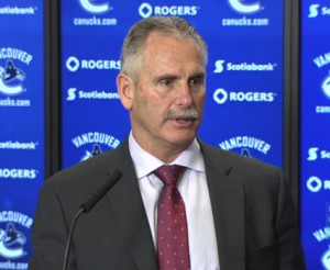 Vancouver Canucks head coach Willie Desjardins