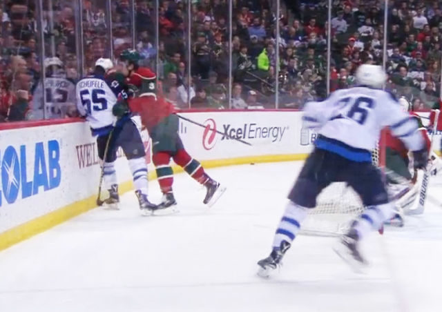 Wild's Coyle Elbows Jets' Scheifele; Suspension Coming?