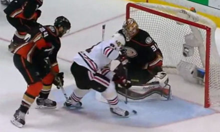 Hawks' Hossa Scores Game 7 Winning Goal With Skate