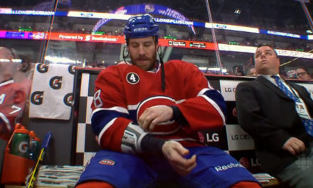 Canadiens' Prust Rips Referee Brad Watson