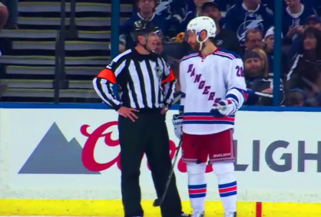 Mic'd Up: Ref Chris Rooney and Rangers' Moore Talk Tripping