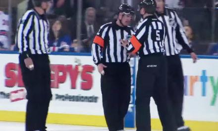 NHL Refs Mic'd Up: Sutherland & Rooney Discuss Lightning Goal