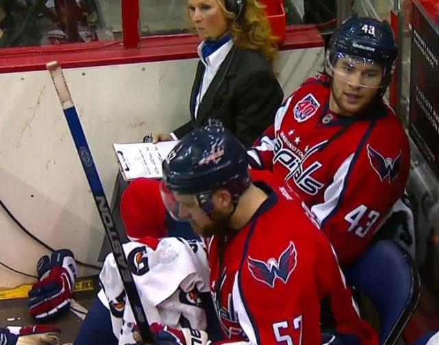 Caps Wilson Picks Up 10-Minute Misconduct