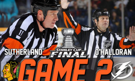 Tonight's Stanley Cup Final Referees & Linesmen – Game 2