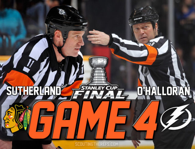 Tonight's Stanley Cup Final Referees & Linesmen – Game 4