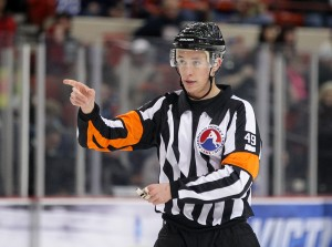Referee TJ Luxmore AHL