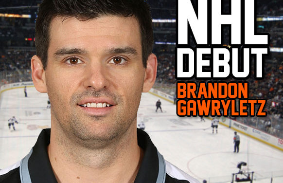 Linesman Brandon Gawryletz to Make NHL Debut