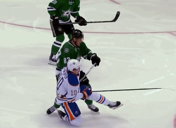 Oilers' Yakupov Takes a Dive