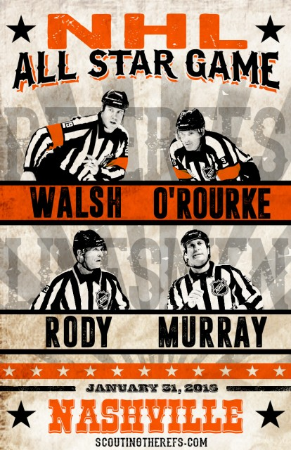 2016 NHL All-Star Game Referees & Linesmen