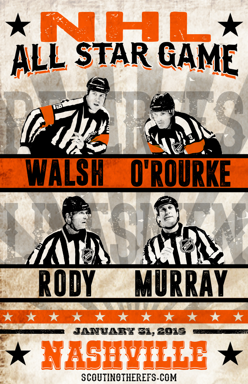 2016 NHL All Star Game Referees & Linesmen