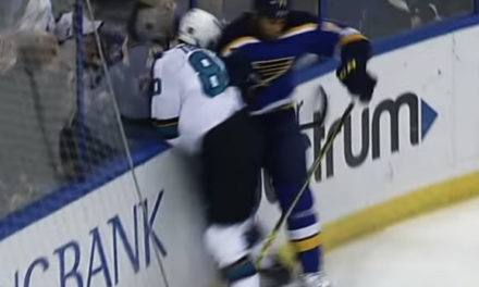 Blues' Reaves Deserves Suspension For Hit on Sharks' Tennyson