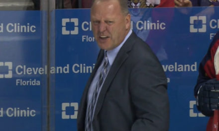 Panthers Coach Gerard Gallant Ejected for Abuse of Officials
