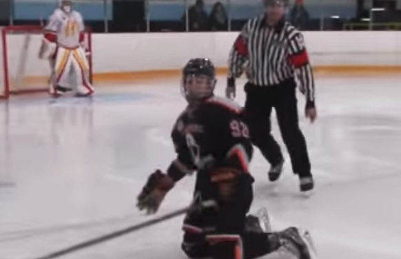 Referee Throws Player Across Ice After Skate Blade Breaks