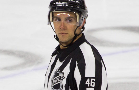 Tonight's NHL Referees & Linesmen – 10/13/16