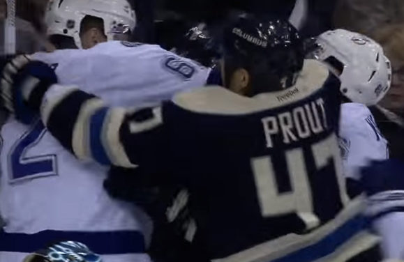 Suspension Coming for Blue Jackets' Prout After Sucker Punch?