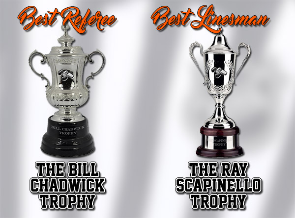 Scouting the Refs - Bill Chadwick Trophy for Best NHL Referee & Ray Scapinello Trophy for Best NHL Linesman