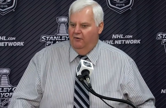 Blues' Hitchcock Calls Out Sharks' DeBoer On Ref Comments