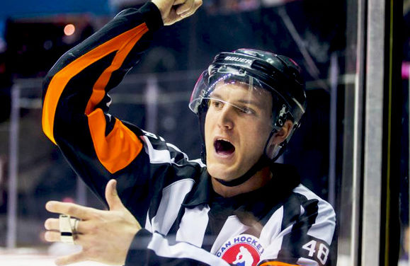 Referee Garrett Rank Juggling AHL Playoffs, Golf Tournament