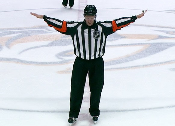 Referee Gord Dwyer